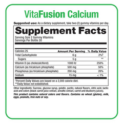 Buy Vitafusion Calcium Gummy Vitamins For Adults, 60 Gummies by Church & Dwight online | Mountainside Medical Equipment