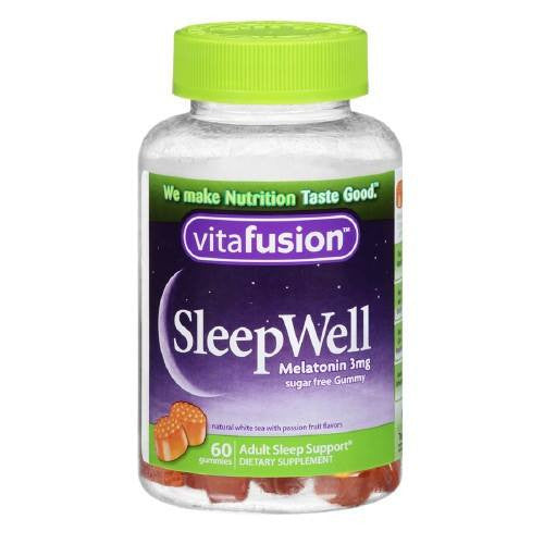 Buy Vitafusion Sleep Well Gummy Sleep-Aid For Adults, Sugar-Free 60ct online used to treat Vitamins, Minerals & Supplements - Medical Conditions
