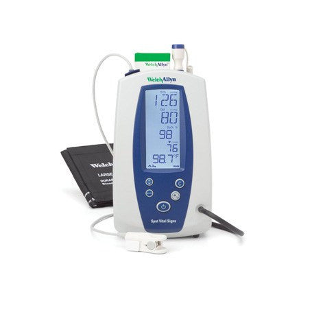Vital Signs Monitor with NIBP, Temp, Masimo, SpO2 and Mobile Stand - Welch Allyn Products - Mountainside Medical Equipment