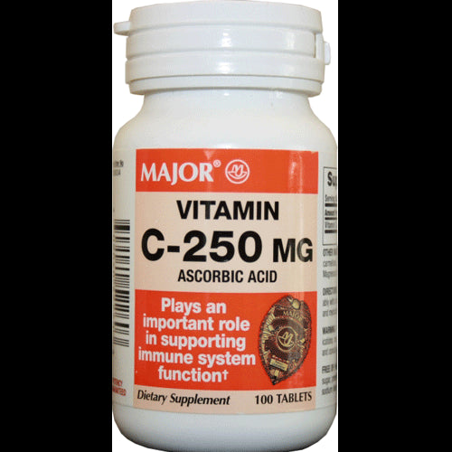 Buy Vitamin C Supplement 100 Tablets by Major Pharmaceuticals | SDVOSB - Mountainside Medical Equipment