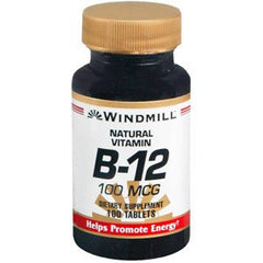 Buy Vitamin B-12 Supplement 100 mcg by Windmill | Home Medical Supplies Online