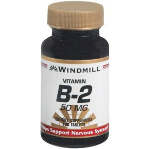 Vitamin B-2 Supplement 50 mg Tablets