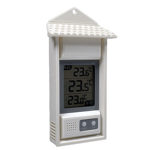 Wall/Room Thermometer Maximum-Minimum, NIST Traceable Certificate