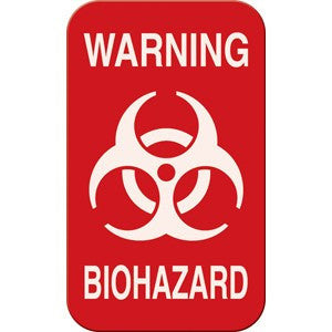Warning Biohazard Magnetic Sign 3 x 5