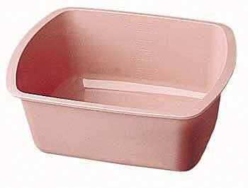 Medical Wash Basin, Rectangular Mauve 7.2 Quart