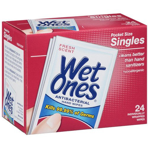 Wet Ones Antibacterial Wipes 24/Box