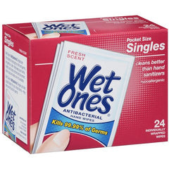 Buy Wet Ones Antibacterial Wipes 24/Box used for Hand Sanitizers by Playtex