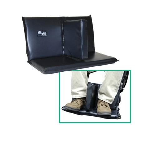 Wheelchair Footrest Extender with Leg Separation