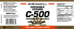 Buy Windmill Chewable Vitamin C Tablets 500mg Tangerine Flavor online used to treat Vitamins, Minerals & Supplements - Medical Conditions