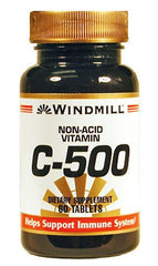 Buy Windmill Non Acid Vitamin C 500mg Tablets with Coupon Code from Windmill Sale - Mountainside Medical Equipment