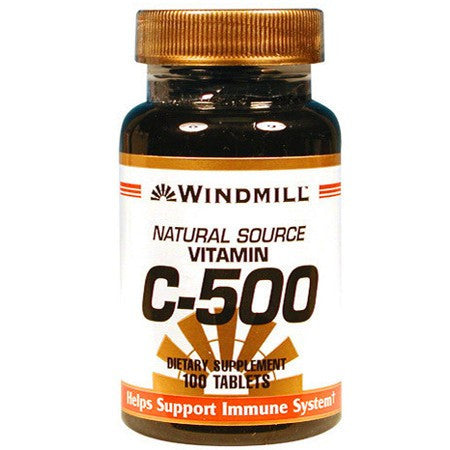 Buy Windmill Natural Source Vitamin C Tablets 500mg used for Vitamins, Minerals & Supplements by Windmill