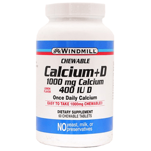 Buy Windmill Calcium Chewable Tablets 500mg by Windmill from a SDVOSB | Vitamins, Minerals & Supplements