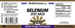 Buy Windmill Selenium Antioxidant Tablets 200 mcg online used to treat Vitamins, Minerals & Supplements - Medical Conditions