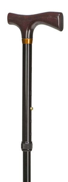 Adjustable Ladies Folding Cane Black - Canes - Mountainside Medical Equipment