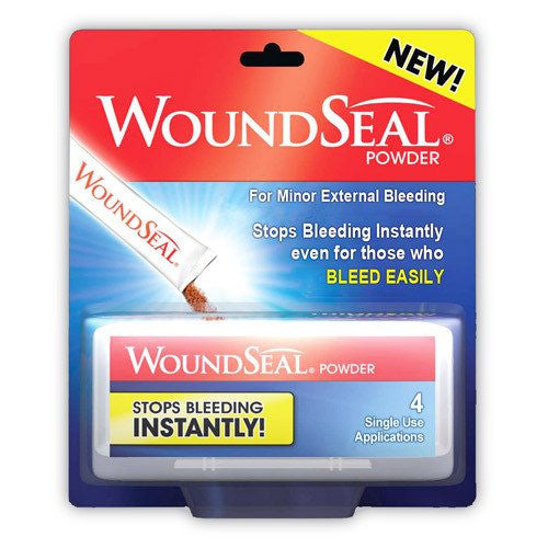 WoundSeal Powder Blood Stopping Packets for First Aid Supplies by Rochester Drug | Medical Supplies