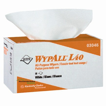 Wypall L40 All Purpose Wipers, White 900/Box