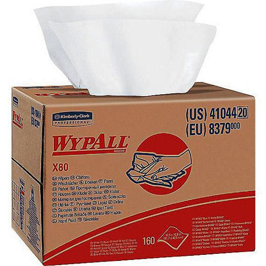 Wypall X80 All Purpose Wipers with Hydroknit™ Technology, White, 160/Case