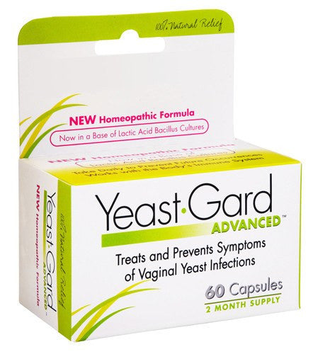Yeast-Gard Advanced Homeopathic, 60 Capsules for Yeast Infection by Lake Consumer Products | Medical Supplies