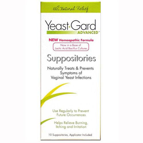 Yeast-Gard Advanced Homeopathic Suppositories, 10/Box