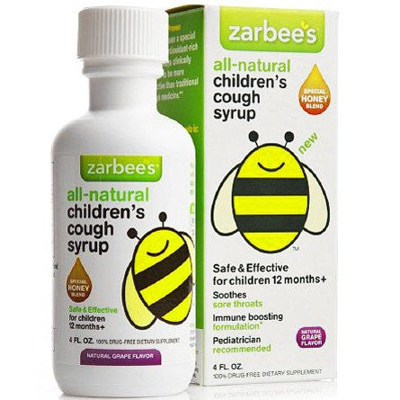 Zarbees Baby Cough Syrup Grape Flavor