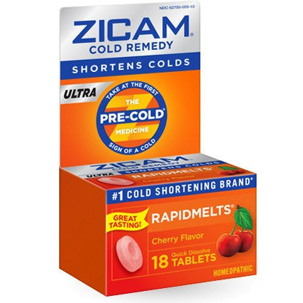 Zicam Ultra Cold Remedy RapidMelts Cherry Flavor,18ct