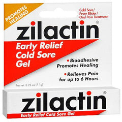 Buy Zilactin Cold Sore Relief Gel used for Cold Sores by Blairex