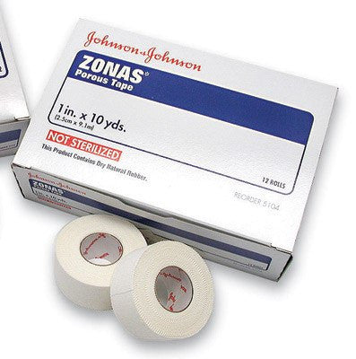 Zonas Athletic Cloth Tape, White 10 Yards - Cloth Medical Tape - Mountainside Medical Equipment