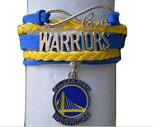 Infinity Love Golden State Basketball Bracelet Warriors logo