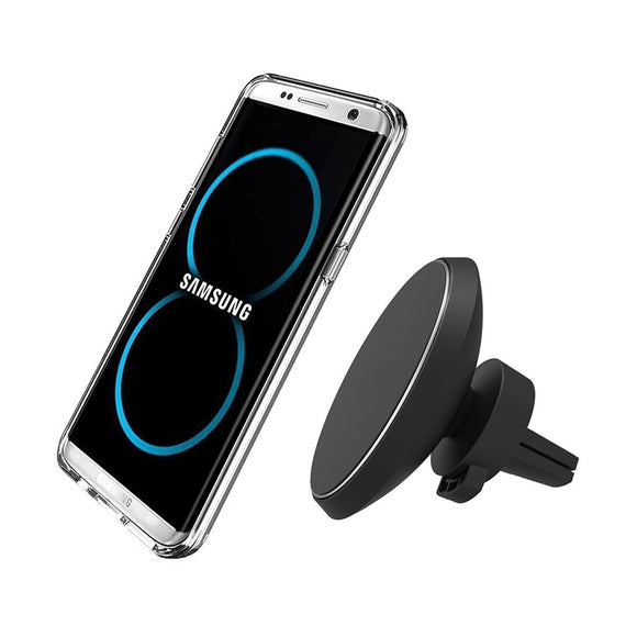 360 Degree Rotation QI Standard Phone Car Magnetic Wireless Charger Air Vent Holder For Samsung S8 S8 Plus S7 Edge S7