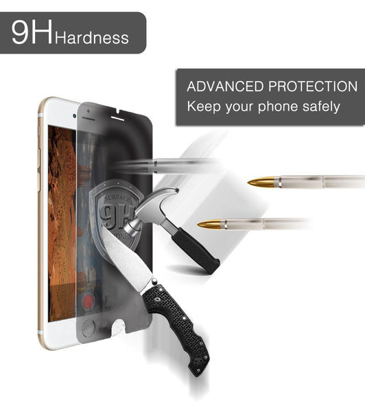 0.3mm 9H Privacy Film Tempered Glass for iphone 4/4s/5/5S/5c/6/6 Plus/7/7plus Anti Spy Screen Protector Anti-shatter Shockproof