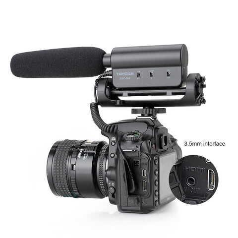 Takstar SGC-598 Photography Shotgun MIC Microphone for Nikon Canon DSLR Camera