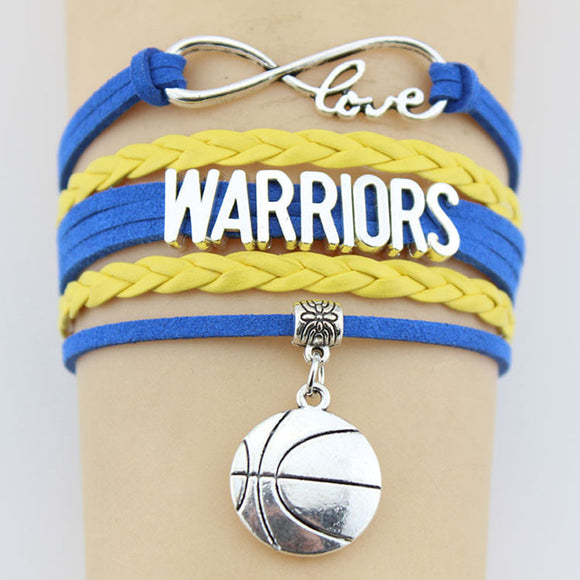 Infinity Love Golden State Basketball Bracelet