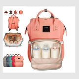 Fashion Mummy Maternity Nappy Bag  Waterproof Backpack Mummy Bag Baby Water Feeding Bottle Portable Diaper Bag Computer Large Capacity