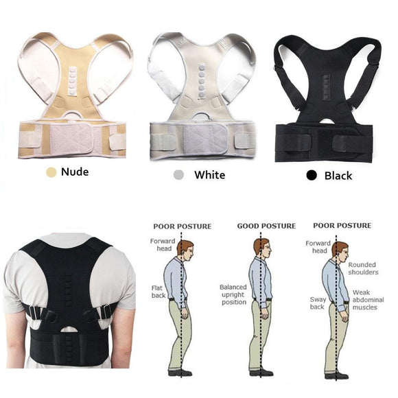 Unisex Magnetic Posture Corrector Therapy Back Brace
