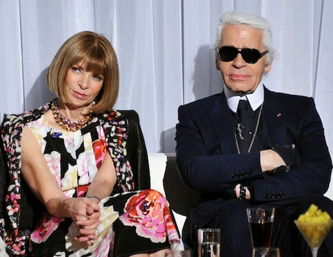 Lagerfeld and WIntour
