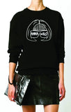 Anna Who B&W Stenciled Sweatshirt (More Colors Available)