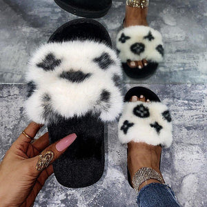 """Louis"" Plush Faux Fur Slides (More Colors Available)"
