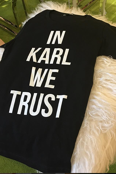 In Karl We Trust Tee
