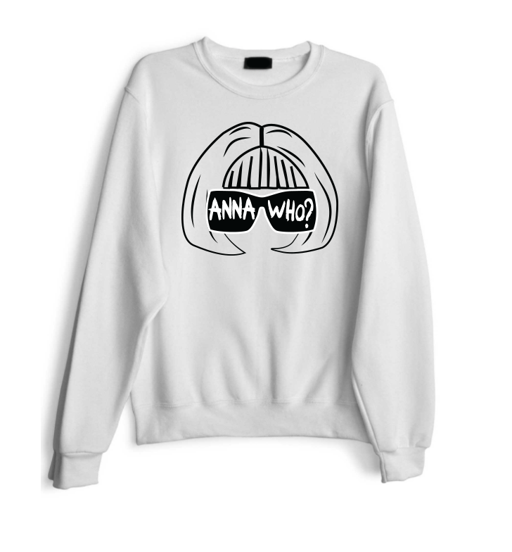 Anna Who B&W Stenciled Sweatshirt