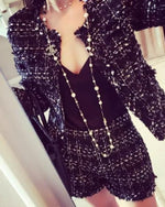 Double Breasted Gold Button Blazer