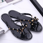 Gold Studded Womens Sandal