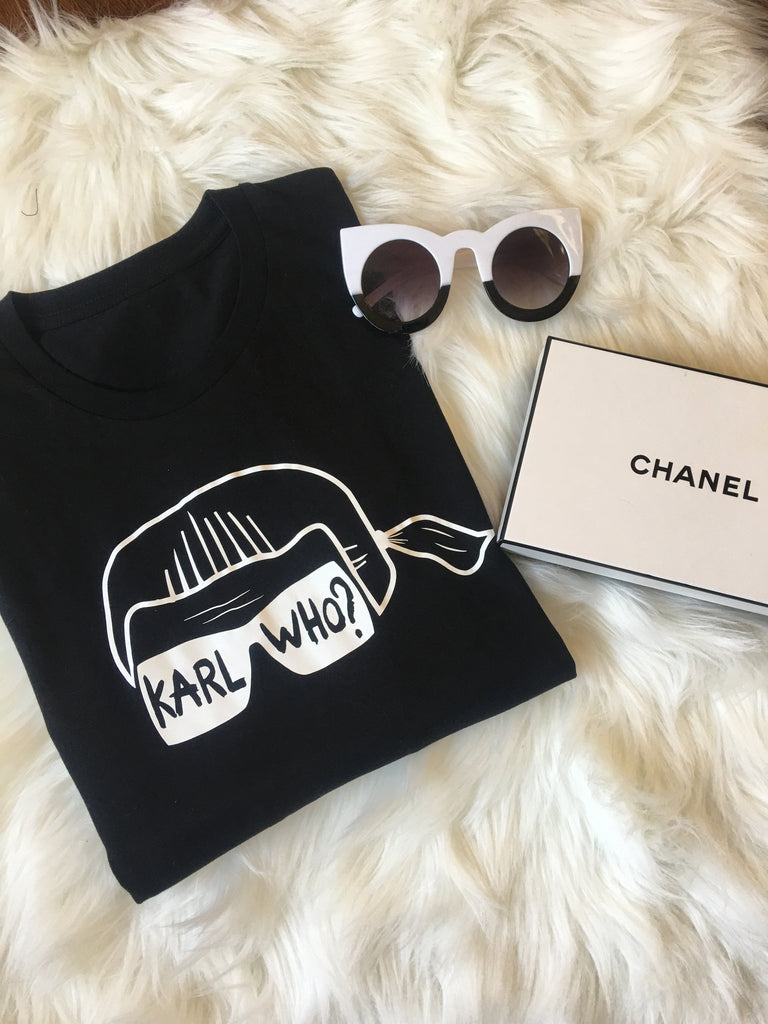 Karl Who B&W Stenciled Tee