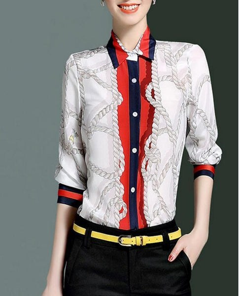 White Silk Rope Blouse - LIMITED EDITION