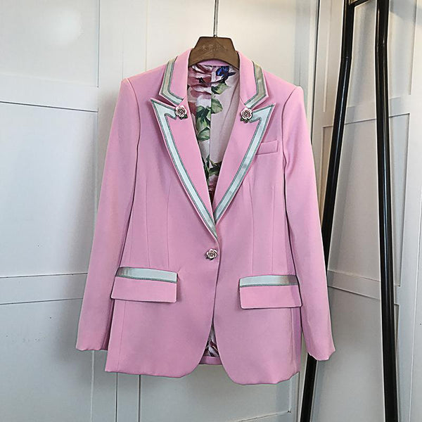 Pink Floral Rose Blazer - LIMITED EDITION