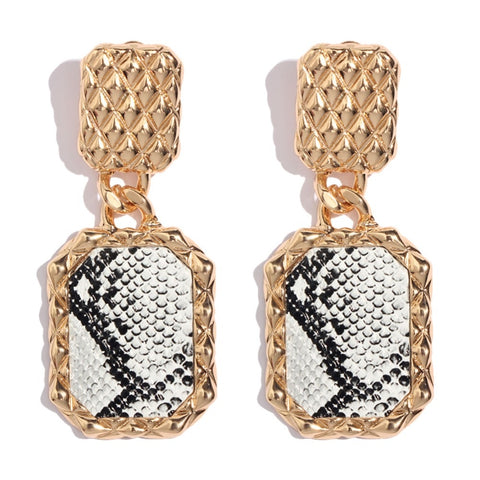 """Morgan"" Snakeskin Printed Earrings"