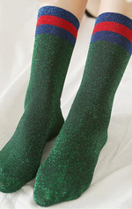 Shiny Gucci Inspired Dress Socks