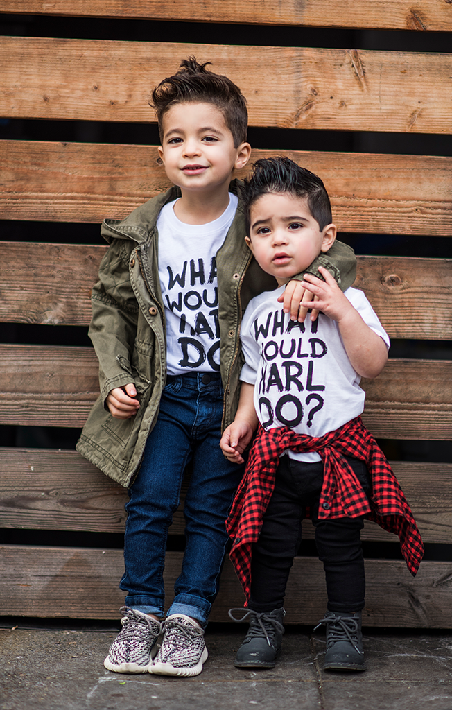 What Would Karl Do Matching Graffiti Tees (6M - Adult L)