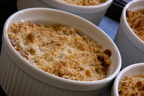 Apple-Cherry Walnut Crisp