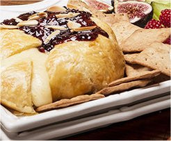 Baked Brie with Hot Pepper Raspberry Preserves