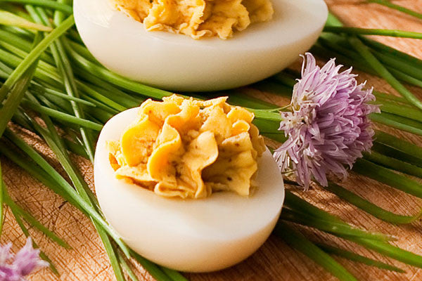 Blue Cheese & Chive Deviled Eggs
